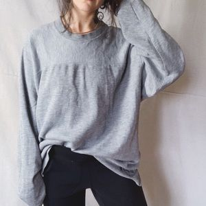 CHAMPION 90s Oversized Sweatshirt Grey